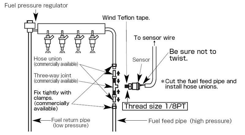 Датчик давления турбины. схема подключения