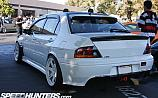 Mitsubishi Lancer Evolution 9 White Volk Racing TE37