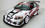 Mitsubishi Lancer Evolution White C-West Evasive Side