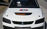 Mitsubishi Lancer Evolution IX White-Black